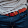Leather Belt Logo Brown