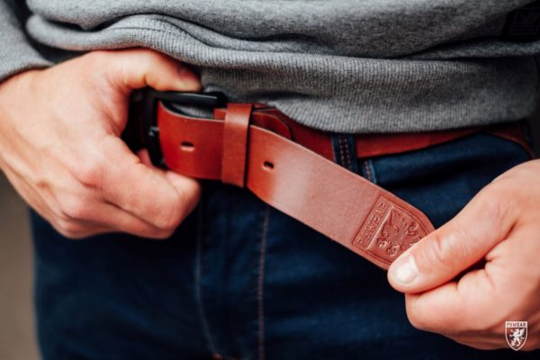 De bruine leren riem van PGwear bestel je natuurlijk bij PGwear Nederland, de officiële webshop voor Nederland en België