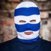 Bivakmuts Blauw Wit
