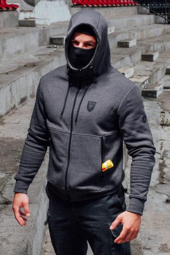 De full face hoodie fury grey hoodie van PGwear bestel je natuurlijk bij PGwear Nederland, de officiële webshop voor Nederland en België
