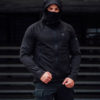 Full Face Softshell Jacket Shadow Black