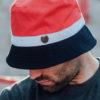 Bucket Hat Wanderer Navy Red