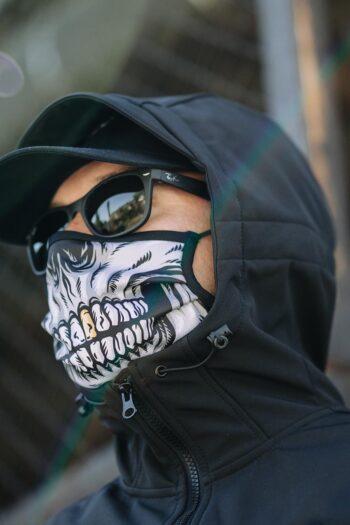 skull masker mondkapje van PGWEAR
